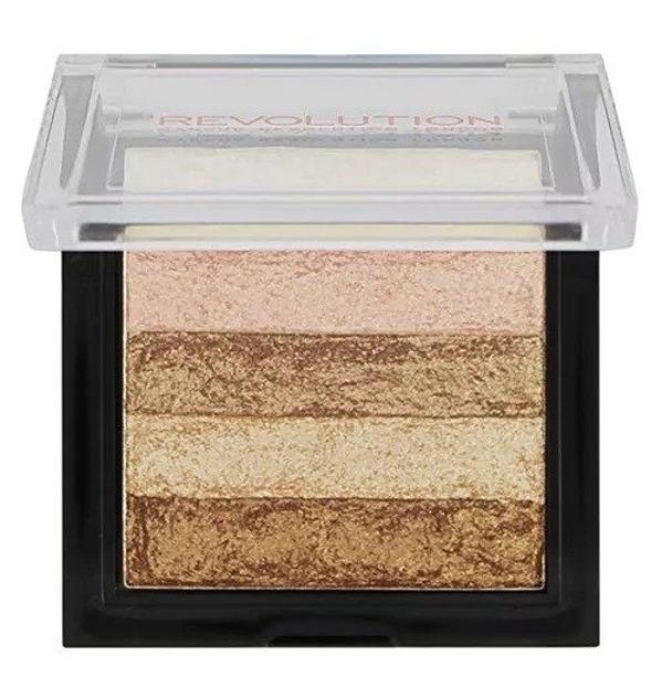 Makeup Revolution Vivid Shimmer Brick Radiant Rozświetlacz do twarzy