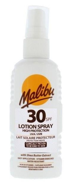 Malibu Lotion Spray High Protection 30SPF Spray do opalania 100ml