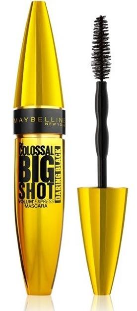 Maybelline The Colossal Big Shot Volum Express Daring Podkręcający tusz do rzęs Czarny