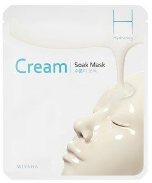 Missha Cream Soak Mask Hydrating Nawilżająca maska w płachcie