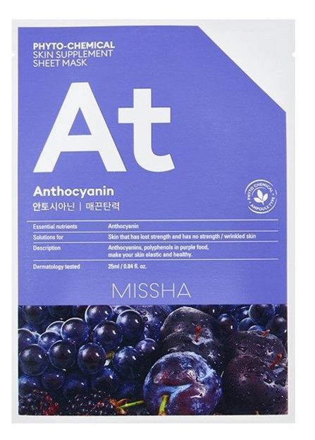 Missha Phyto-Chemical Sheet Mask AT Anthocyanin Maseczka do twarzy w płachcie