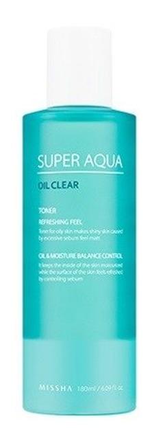 Missha Super Aqua Oil Clear Toner Tonik do twarzy 180ml