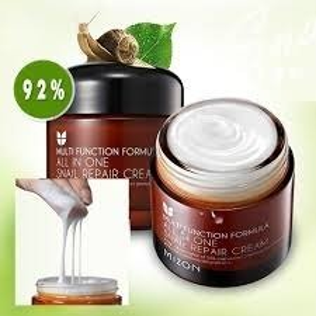 Mizon All in One Snail Repair Cream - Regenerujący krem do twarzy z zawartością śluzu ślimaka 75ml