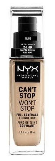 NYX Can't Stop Won't Stop Długotrwały podkład kryjący 06,5 Nude 30ml