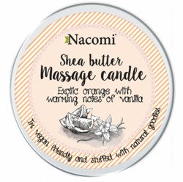 Nacomi Candle Shea Body Butter Pomarańcza i wanilia Balsam w świecy 150g