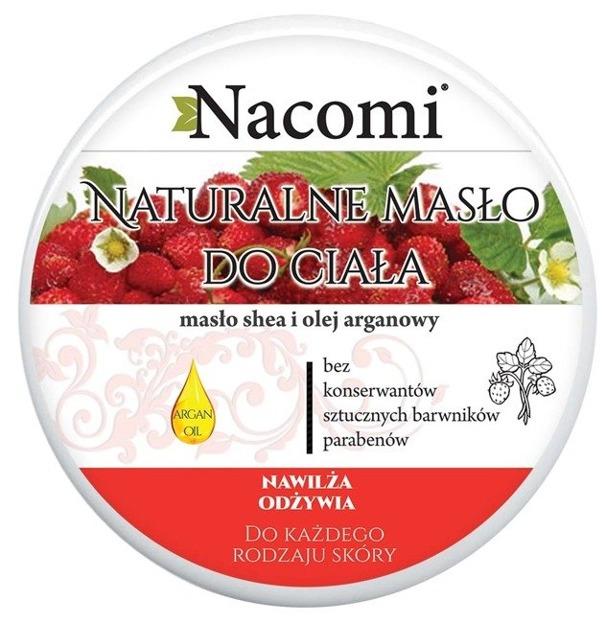 Nacomi Naturalny balsam do ciała z masłem Shea i poziomką Intensywne nawilżenie 200ml