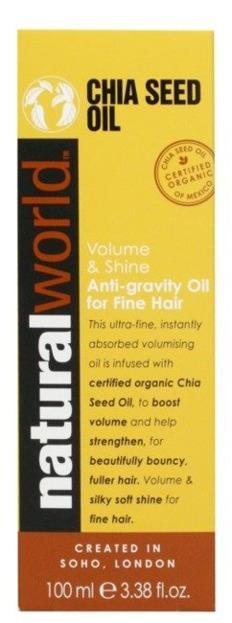 Natural World Chia Seed Oil Dodający objętości olejek do włosów 100ml