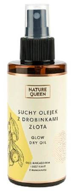 Nature Queen Suchy Olejek z drobinkami złota 150ml
