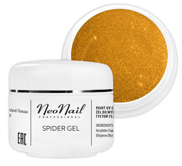 Neonail  Spider Gel Żel do zdobień GOLD 5ml