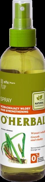 O'Herbal Spray wzmacniający włosy z ekstraktem z korzenia tataraku 200ml