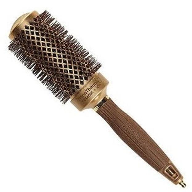 Olivia Garden Szczotka do włosów Nanothermic 54mm Gold/brown