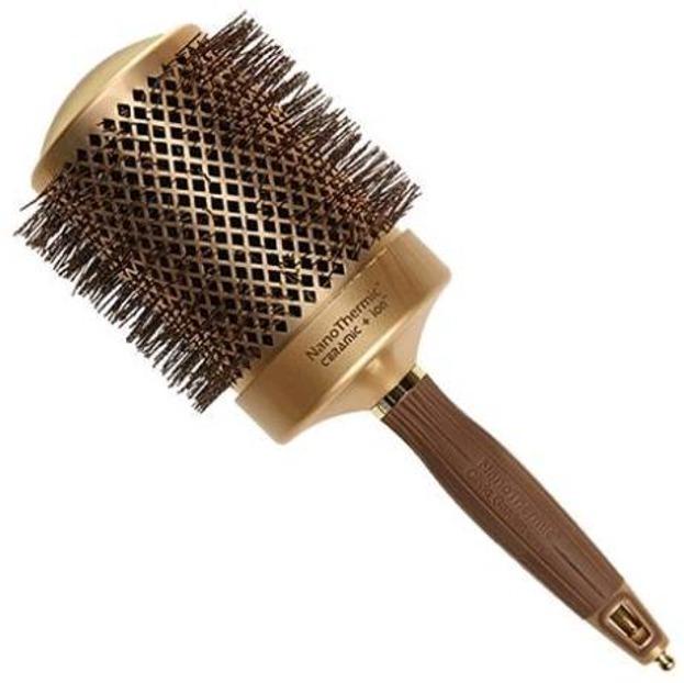 Olivia Garden Szczotka do włosów Nanothermic 82mm gold/brown