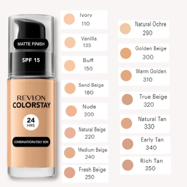 Revlon Colorstay 24Hrs Podkład Z POMPKĄ do cery tłustej i mieszanej 330 Natural Tan