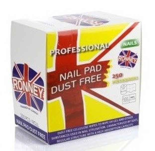 Ronney Nail Pad Dust Free Waciki bezpyłowe 250szt
