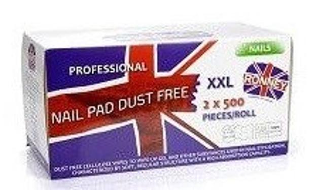 Ronney Nail Pad Dust Free XXL Waciki bezpyłowe 2x500szt