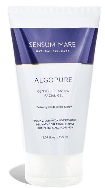 SENSUM MARE ALGOPURE delikatny żel do mycia twarzy z kompleksem 5 alg morskich i wodą z lodowca norweskiego 150ml