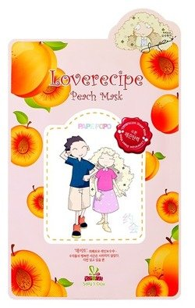Sallys Box Loverecipe Peach Mask Celulozowa maska w płachcie 20ml