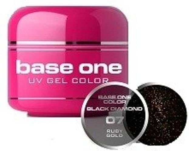 Silcare Base One Black Diamond 07 Ruby Gold Żel kolorowy 5g