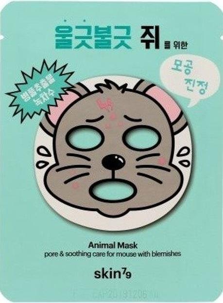 Skin79 Oczyszczająca maska w płachcie Animal Mask For Mouse with Blemishes 23 g