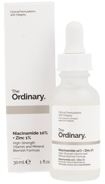 The Ordinary Niacinamide 10%+Zinc 1% Serum z Witaminą B3 i Cynkiem 30ml