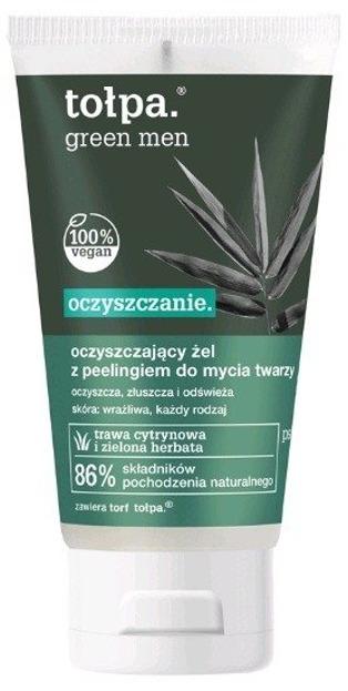 Tołpa Green Men - Oczyszczający żel- peeling do mycia twarzy 150 ml
