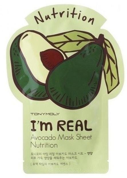 TonyMoly I`M Real Avocado Mask Sheet Nutrition Odżywcza maska w płachcie