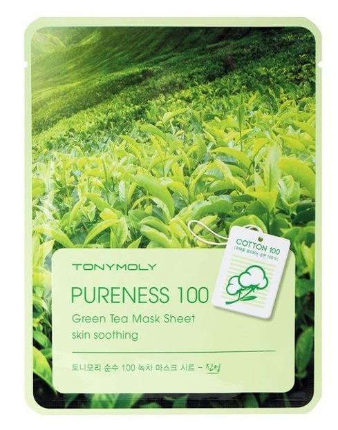 TonyMoly Pureness 100 Green Tea Mask Sheet Maska do twarzy w płachcie