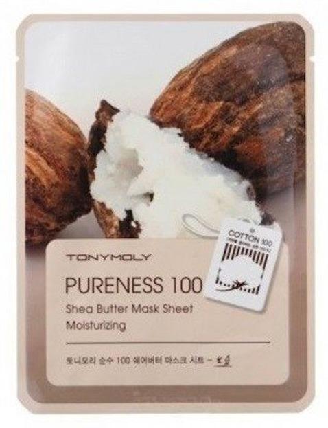 TonyMoly Pureness 100 Shea Butter Mask Sheet Nawilżająca maska do twarzy w płachcie