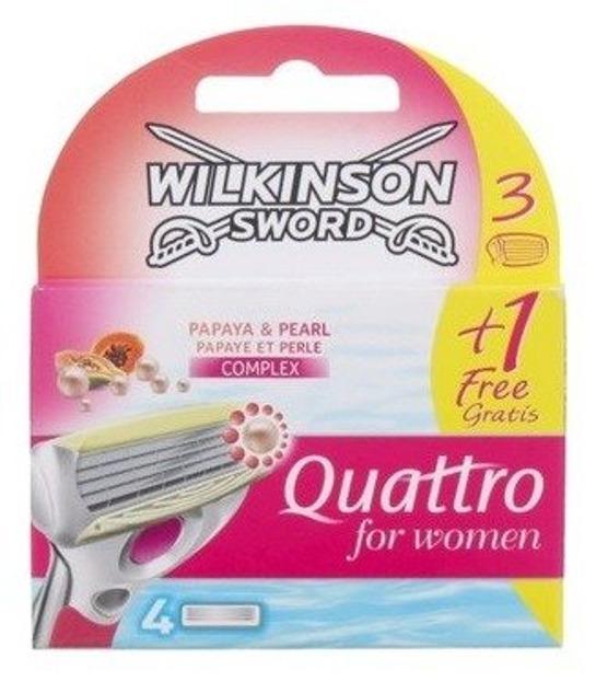 Wilkinson Quattro Women Papaya Wkłady do maszynki 4szt
