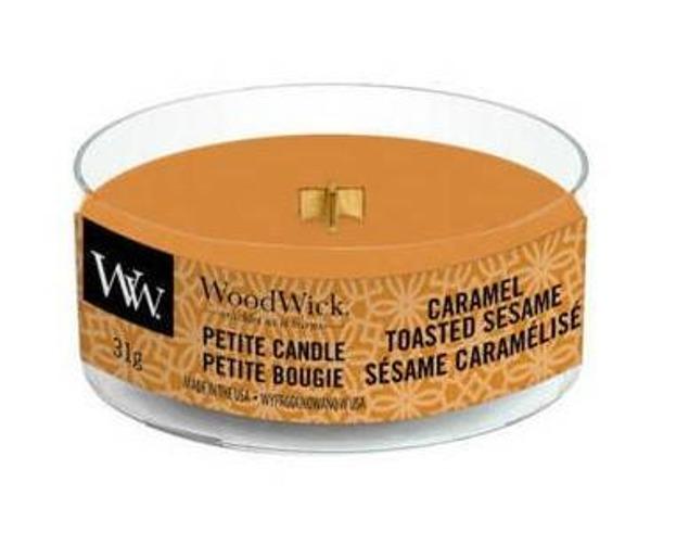 WoodWick świeca petite Caramel Toasted Sesame 31g