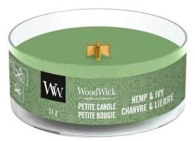 WoodWick świeca petite Hemp&Ivy 31g