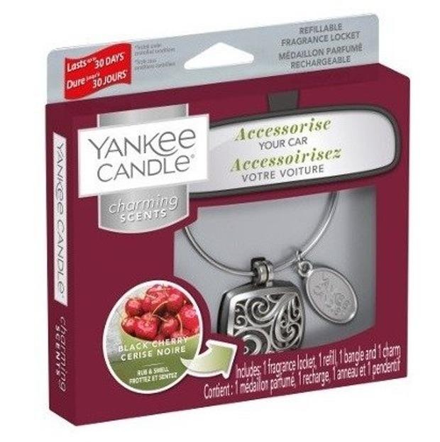 Yankee Candle Charming Scents Odświeżacz samochodowy zawieszka Black Cherry