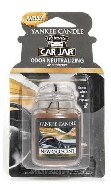 Yankee Candle car jar Ultimate  - Odświeżacz samochodowy Zawieszka słoik New Car Scent 1szt.