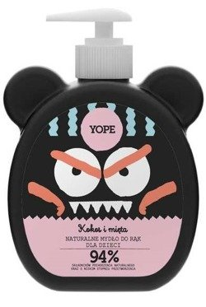 Yope Mydło do rąk dla dzieci Kokos i mięta 400ml