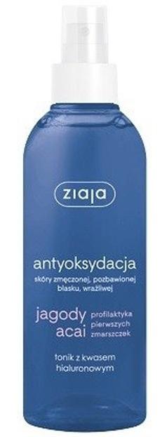 Ziaja antyoksydacja Jagody Acai Tonik z kwasem hialuronowym 200 ml