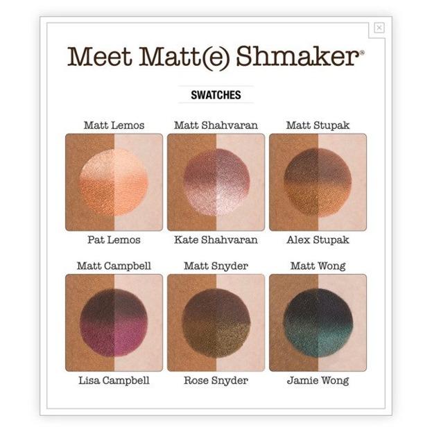 theBalm Meet Matte Shmaker Paleta cieni do powiek