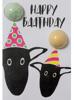 Bomb Cosmetics Kartka z musująca kulą do kąpieli HAPPY BAAT-THDAY