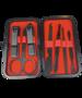 Deni Carte Zestaw do Manicure 6857 black/red